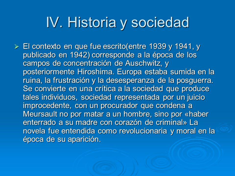 IV. Historia y sociedad