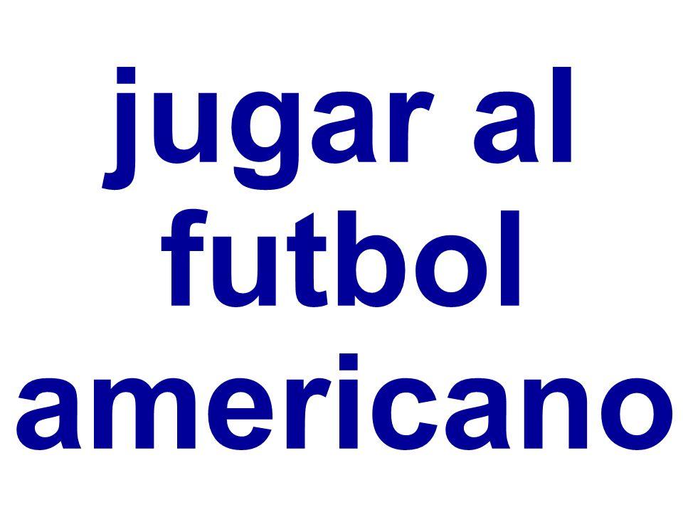 jugar al futbol americano