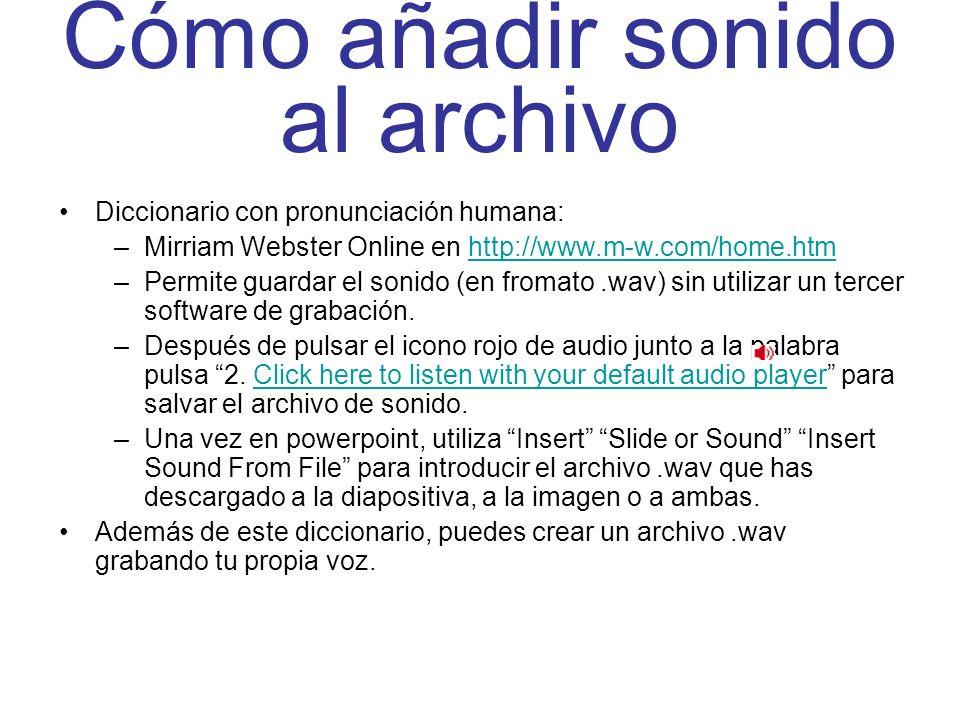 Cómo añadir sonido al archivo