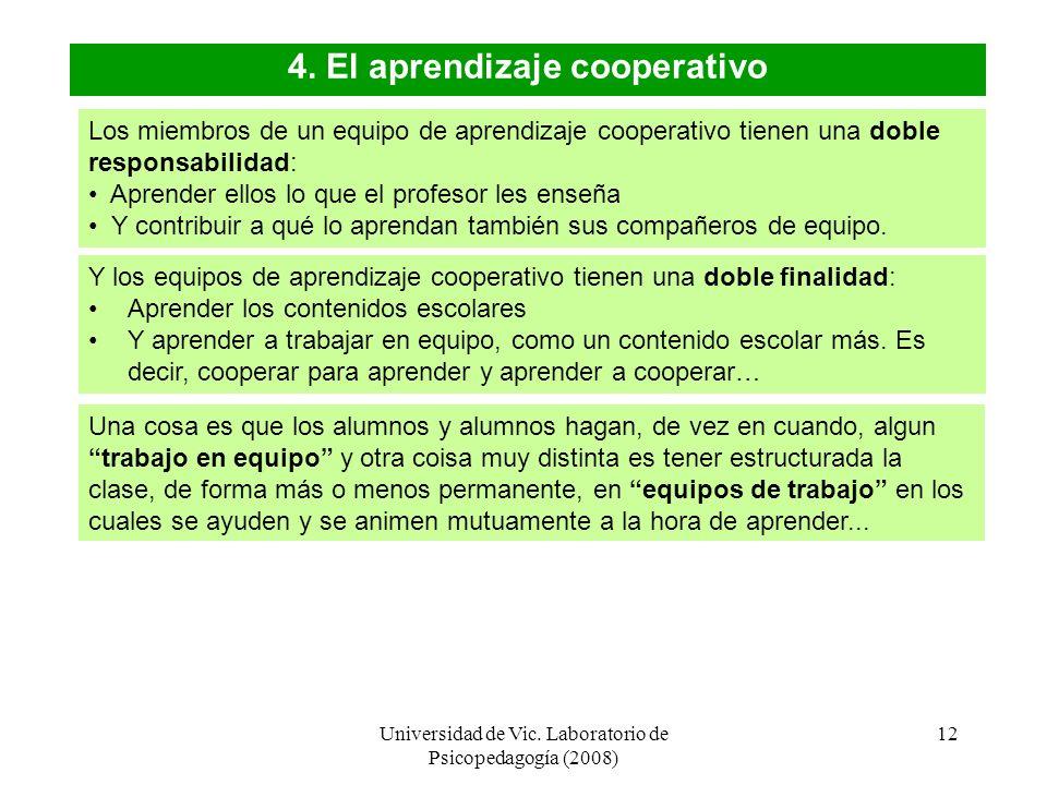 4. El aprendizaje cooperativo