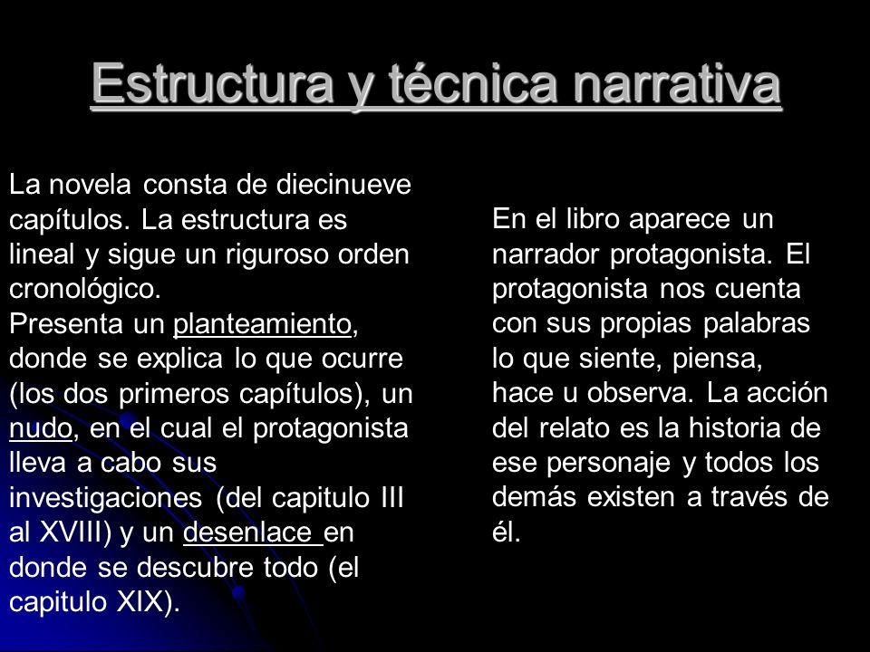 Estructura y técnica narrativa