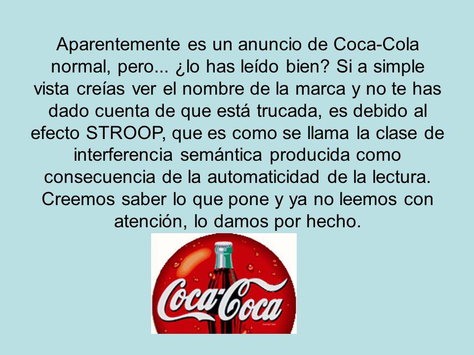 Aparentemente es un anuncio de Coca-Cola normal, pero