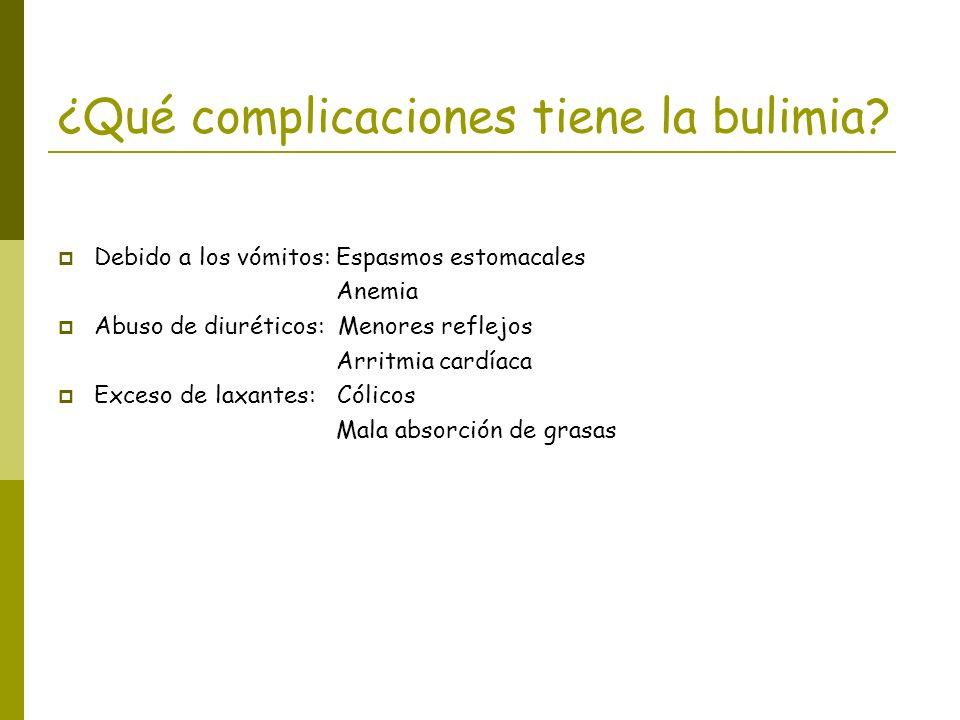 ¿Qué complicaciones tiene la bulimia