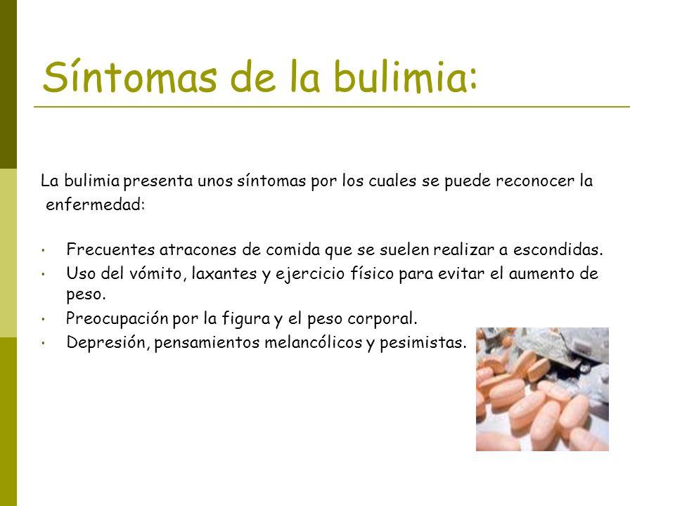 Síntomas de la bulimia: