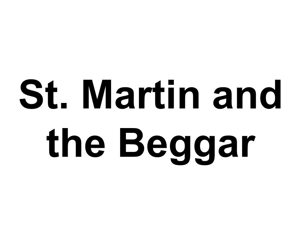 St. Martin and the Beggar