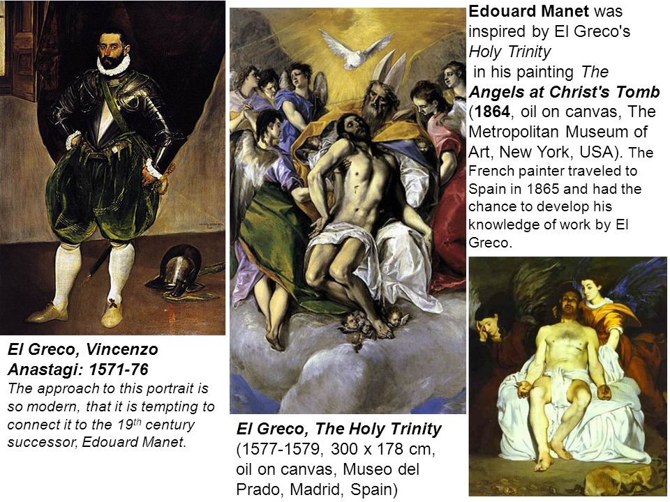 Edouard Manet was inspired by El Greco s Holy Trinity