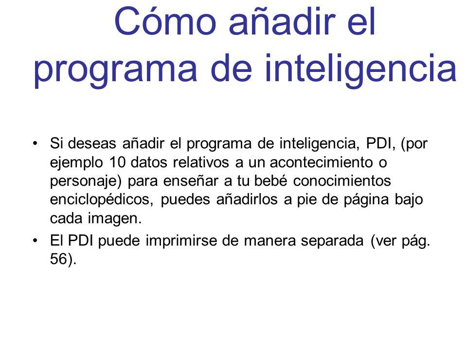 Cómo añadir el programa de inteligencia