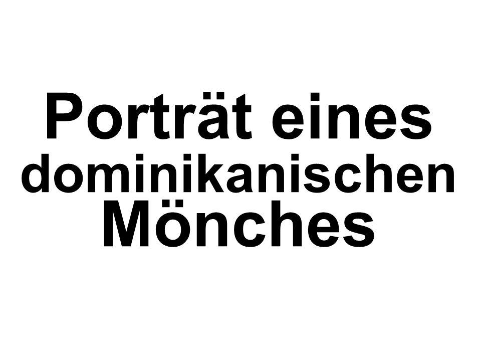 Porträt eines dominikanischen Mönches