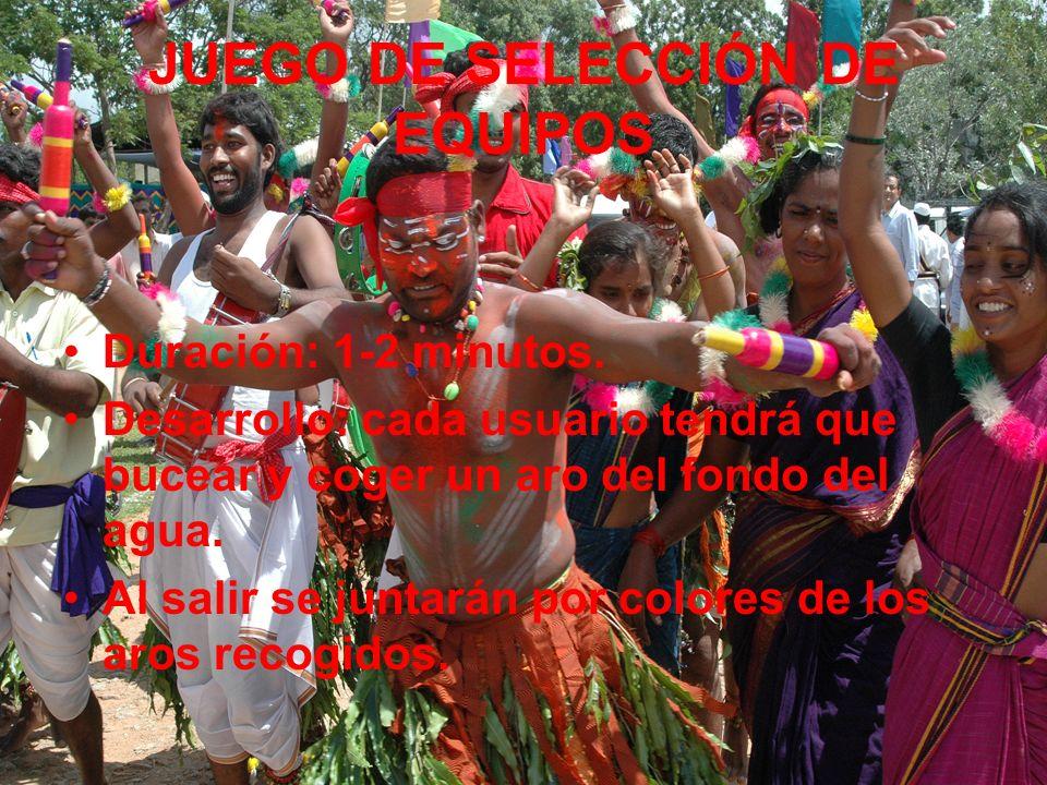 JUEGO DE SELECCIÓN DE EQUIPOS