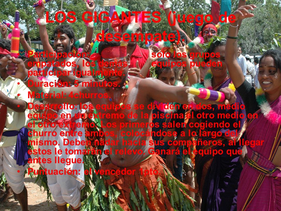 LOS GIGANTES (juego de desempate).