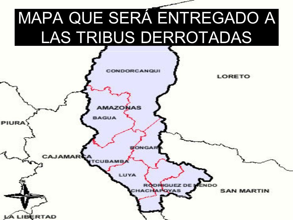 MAPA QUE SERÁ ENTREGADO A LAS TRIBUS DERROTADAS