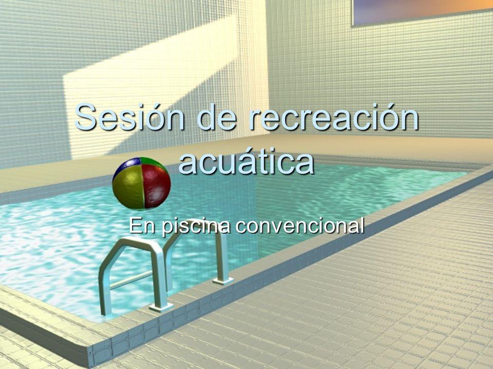 Sesión de recreación acuática