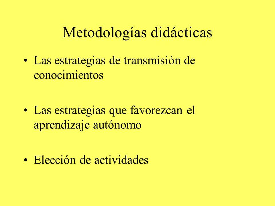 Metodologías didácticas