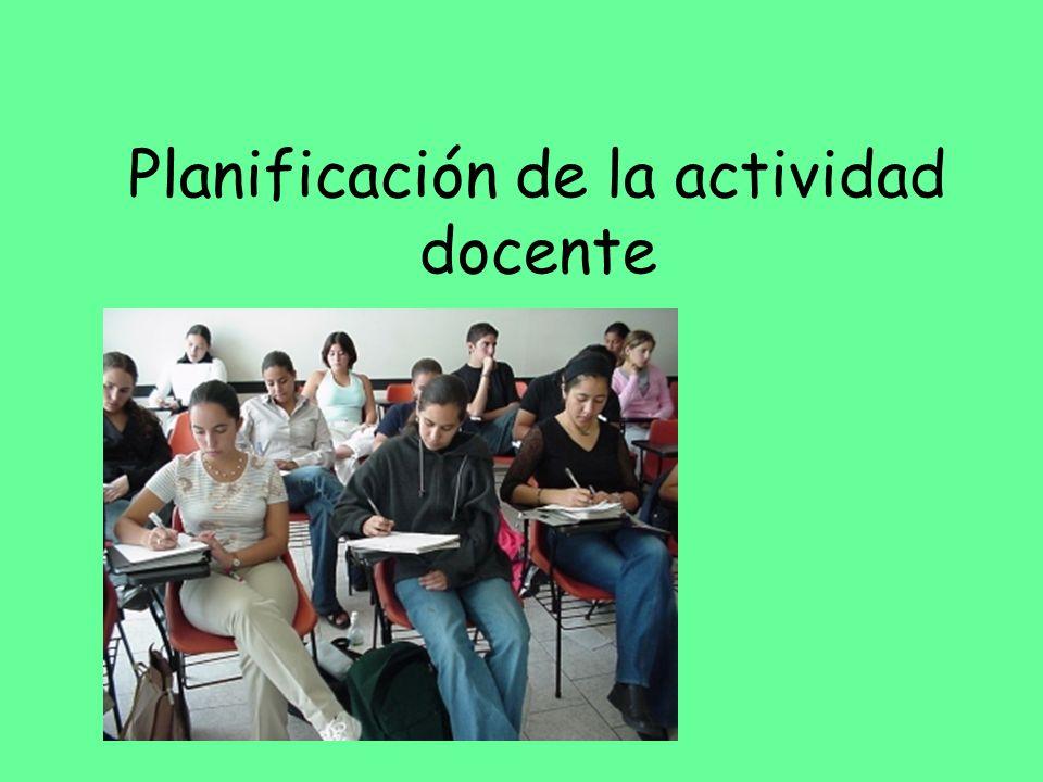 Planificación de la actividad docente