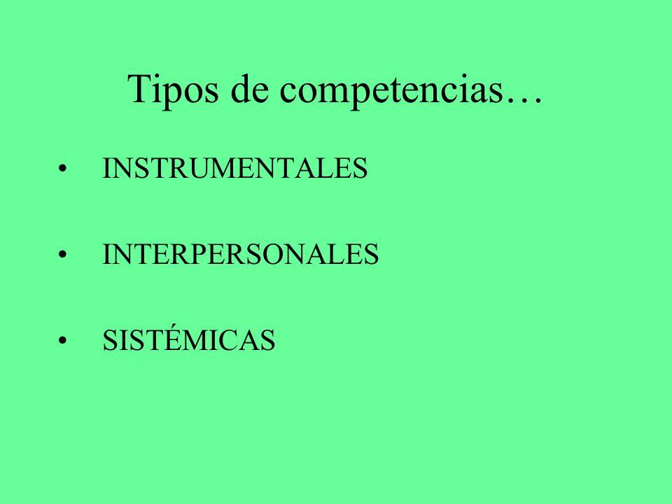 Tipos de competencias…