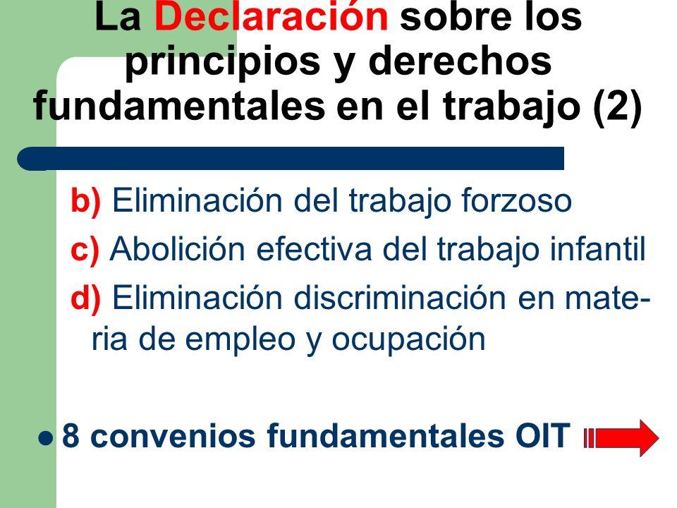 La Declaración sobre los principios y derechos fundamentales en el trabajo (2)