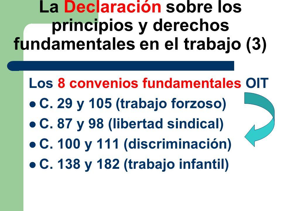 La Declaración sobre los principios y derechos fundamentales en el trabajo (3)