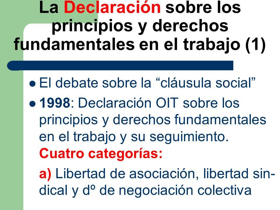 La Declaración sobre los principios y derechos fundamentales en el trabajo (1)