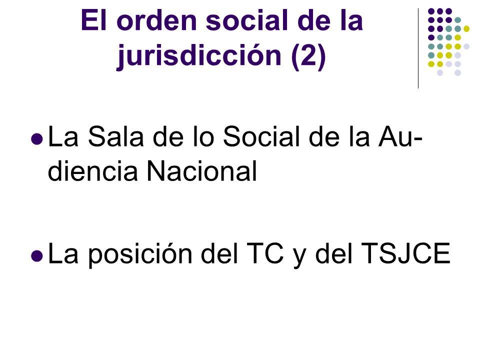 El orden social de la jurisdicción (2)