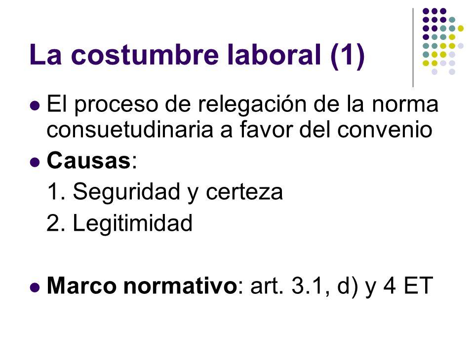 La costumbre laboral (1)