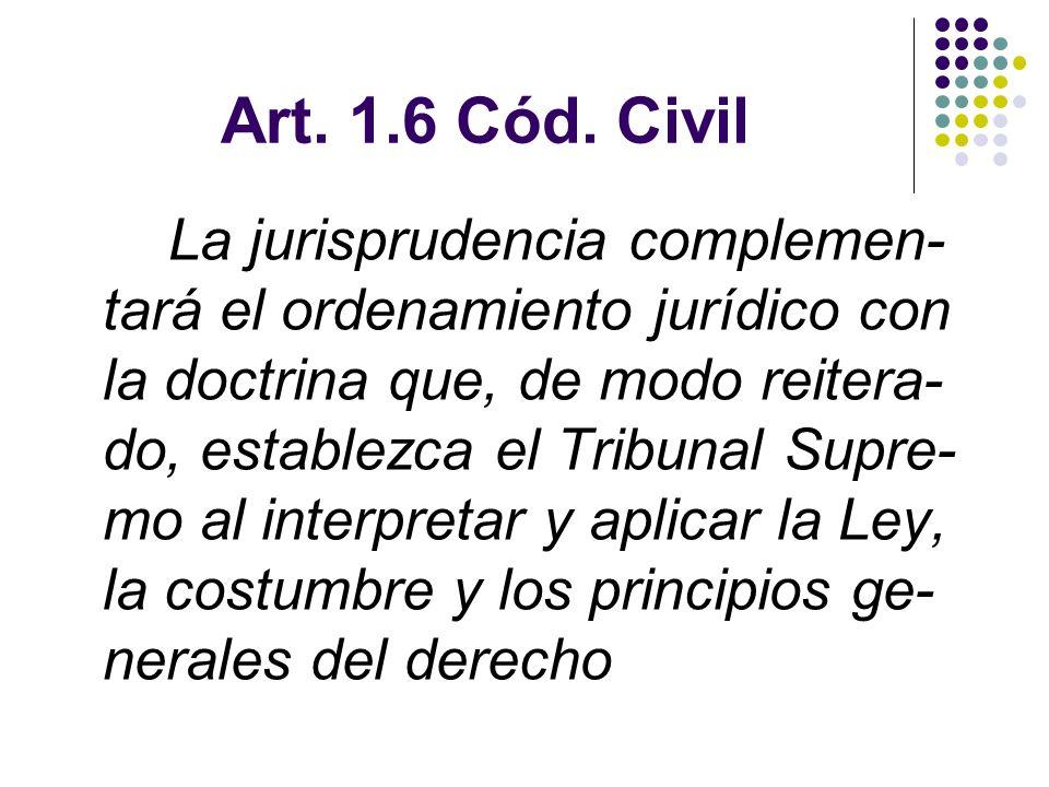 Art. 1.6 Cód. Civil