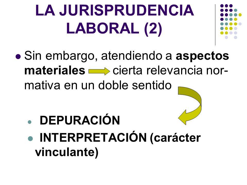 LA JURISPRUDENCIA LABORAL (2)