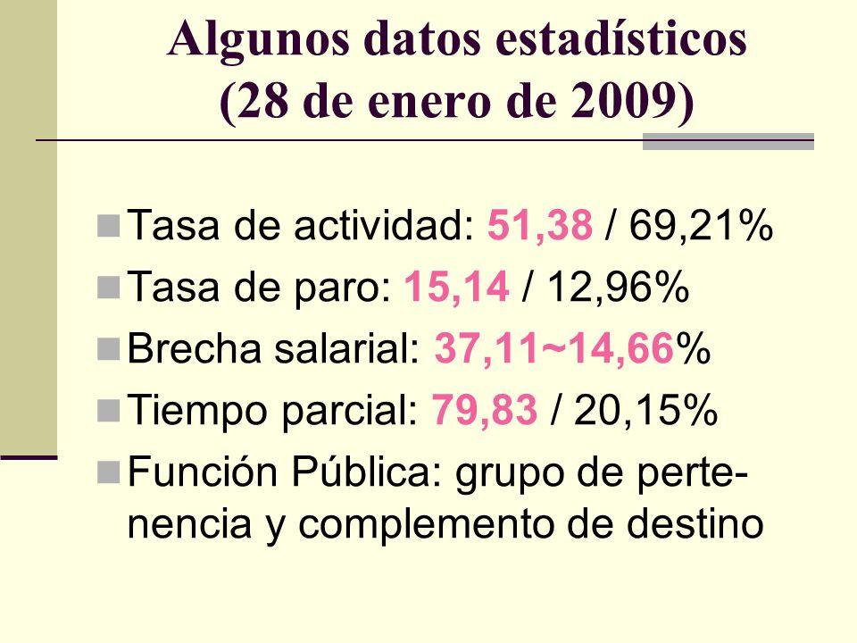 Algunos datos estadísticos (28 de enero de 2009)
