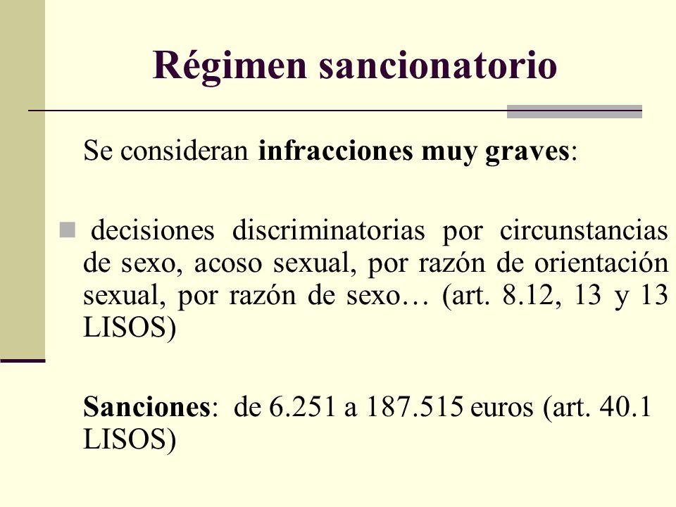 Régimen sancionatorio