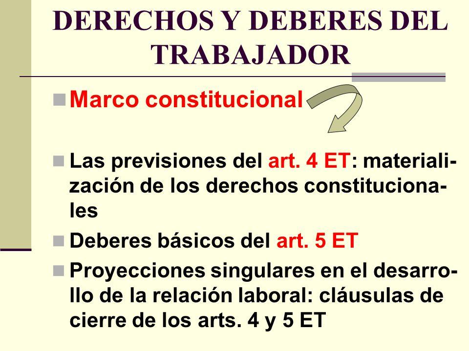 DERECHOS Y DEBERES DEL TRABAJADOR