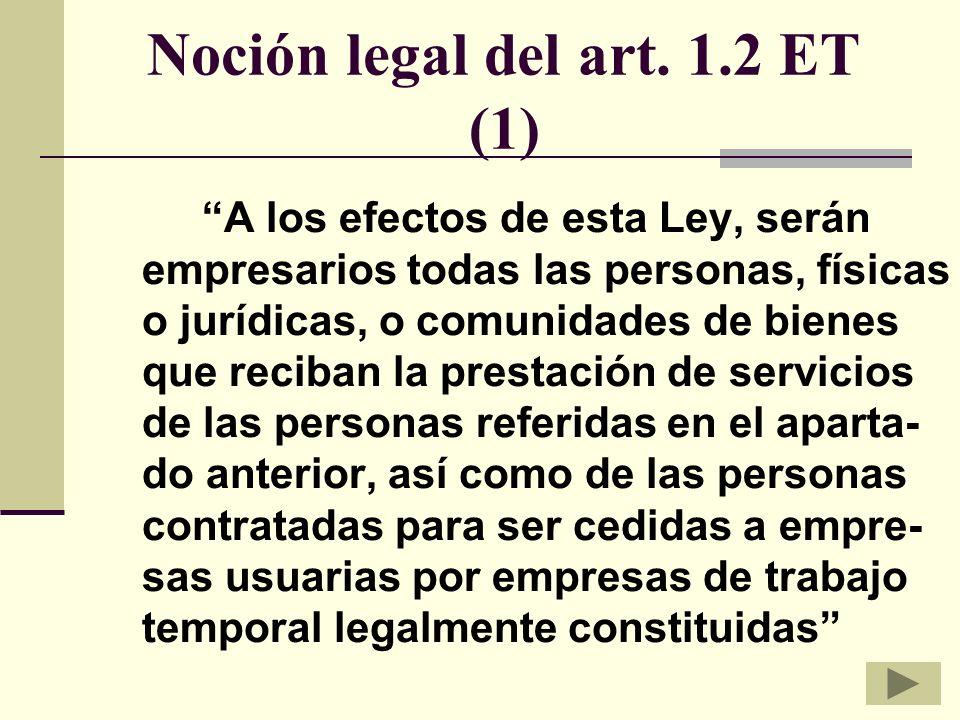 Noción legal del art. 1.2 ET (1)