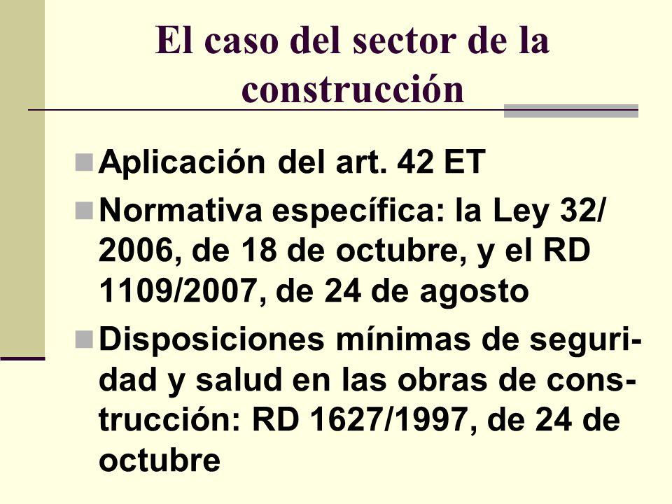 El caso del sector de la construcción