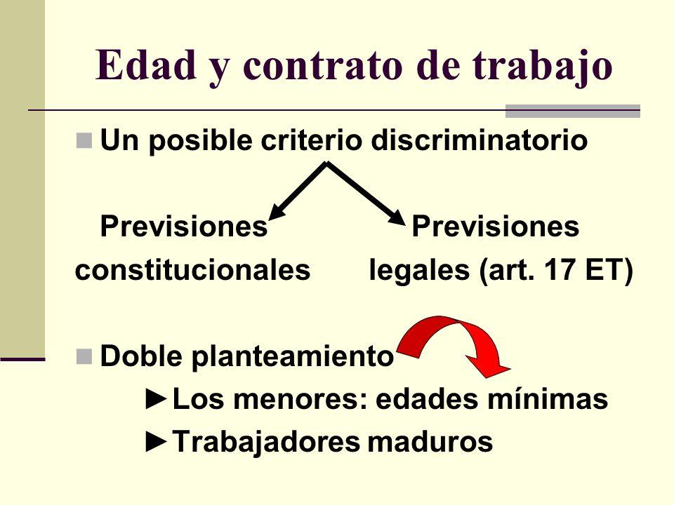 Edad y contrato de trabajo