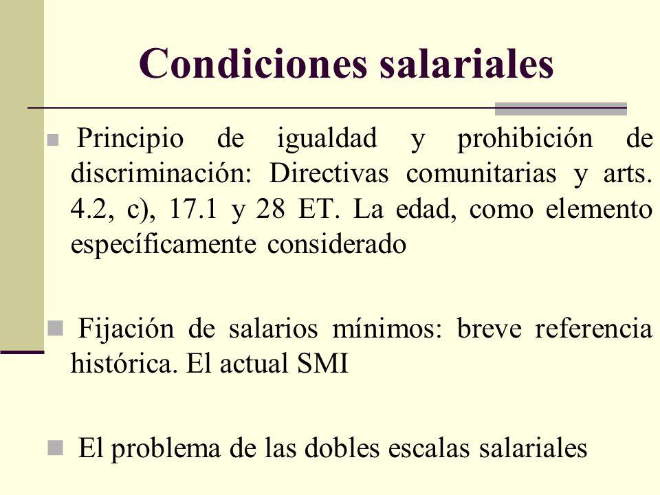 Condiciones salariales