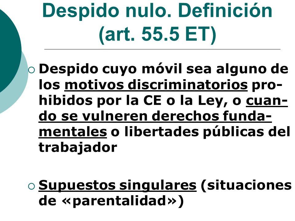Despido nulo. Definición (art. 55.5 ET)
