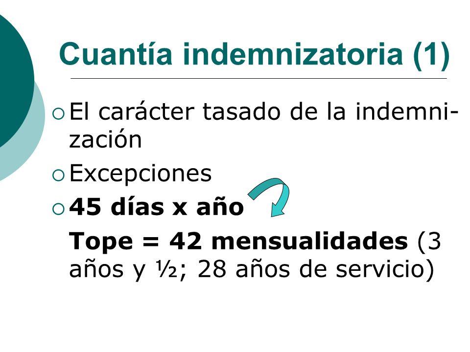 Cuantía indemnizatoria (1)