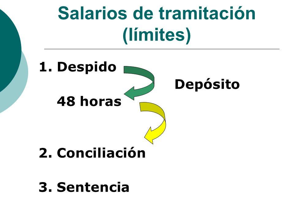 Salarios de tramitación (límites)
