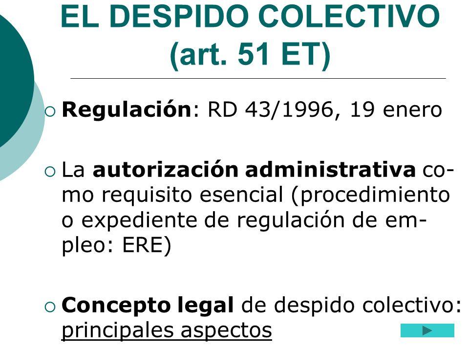 EL DESPIDO COLECTIVO (art. 51 ET)