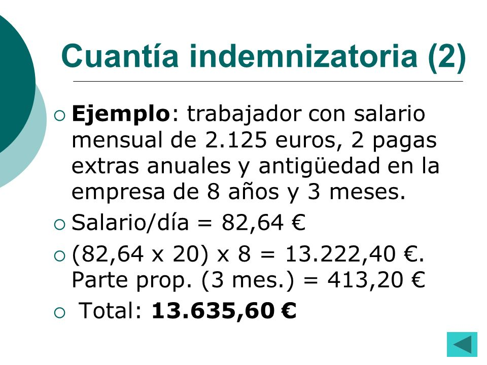 Cuantía indemnizatoria (2)