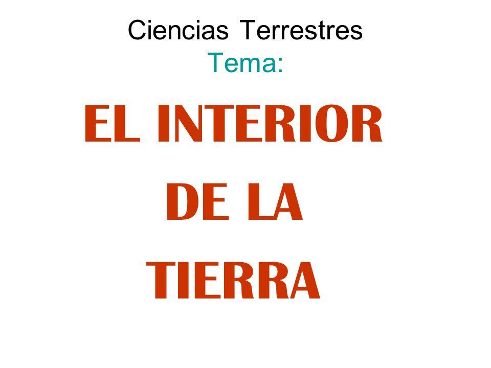 Ciencias Terrestres Tema: