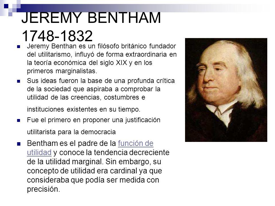 JEREMY BENTHAM 1748-1832