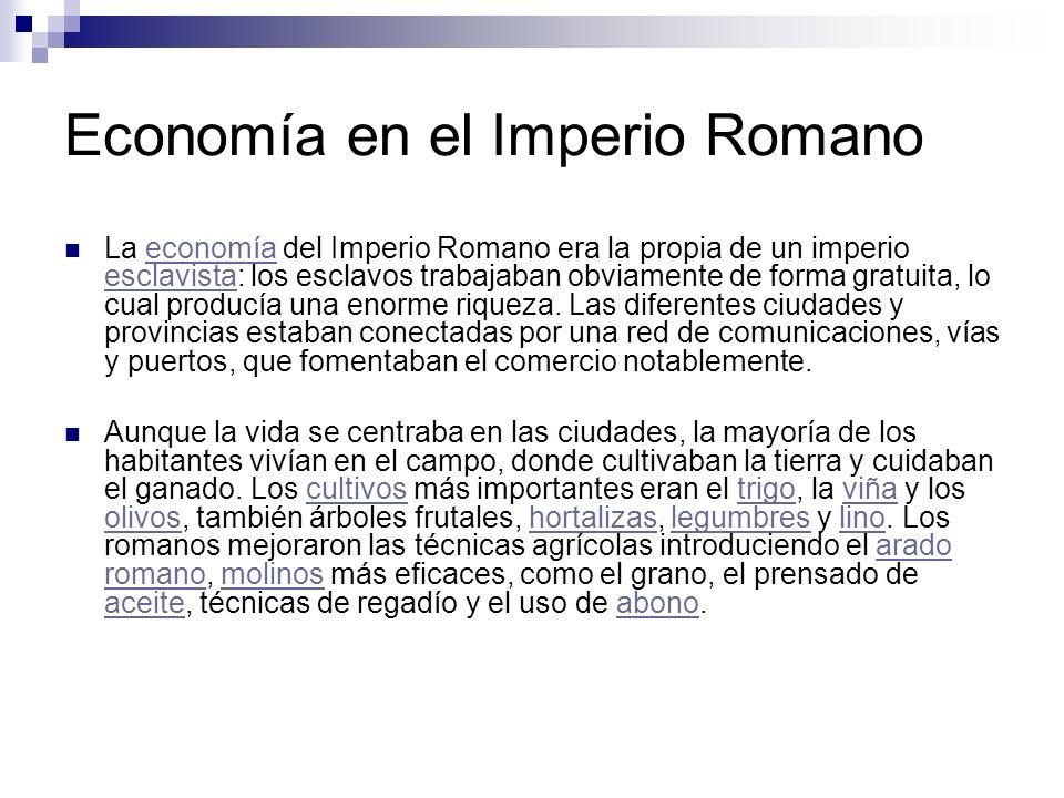 Economía en el Imperio Romano