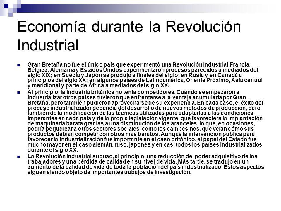 Economía durante la Revolución Industrial