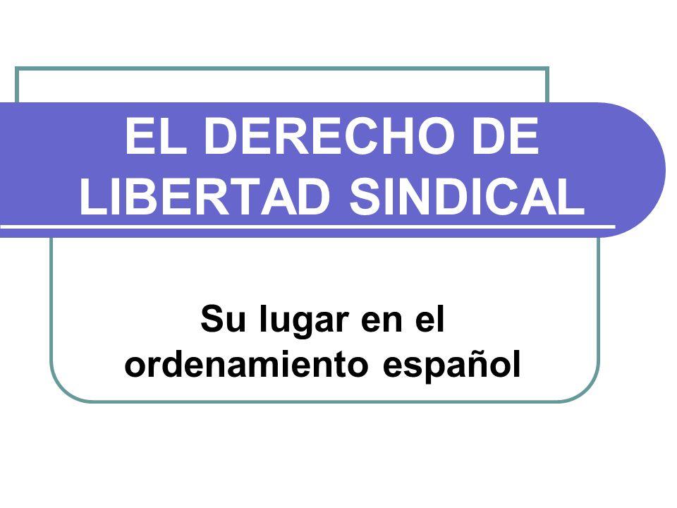 EL DERECHO DE LIBERTAD SINDICAL