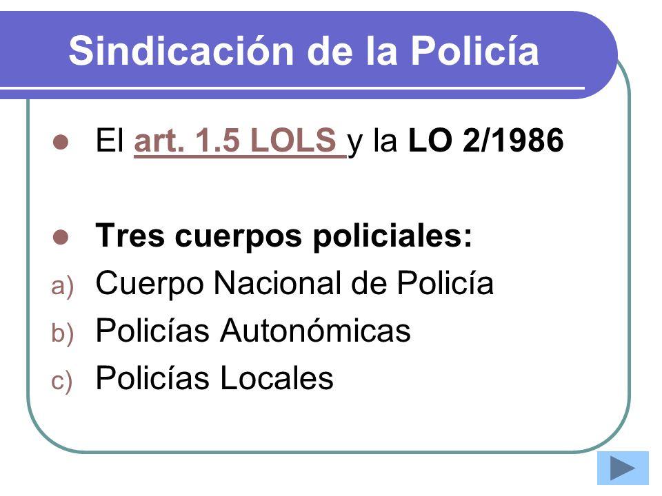 Sindicación de la Policía