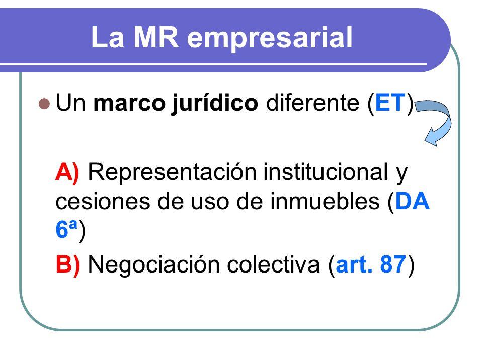 La MR empresarial Un marco jurídico diferente (ET)