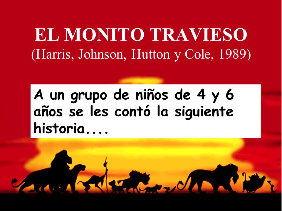 EL MONITO TRAVIESO (Harris, Johnson, Hutton y Cole, 1989)