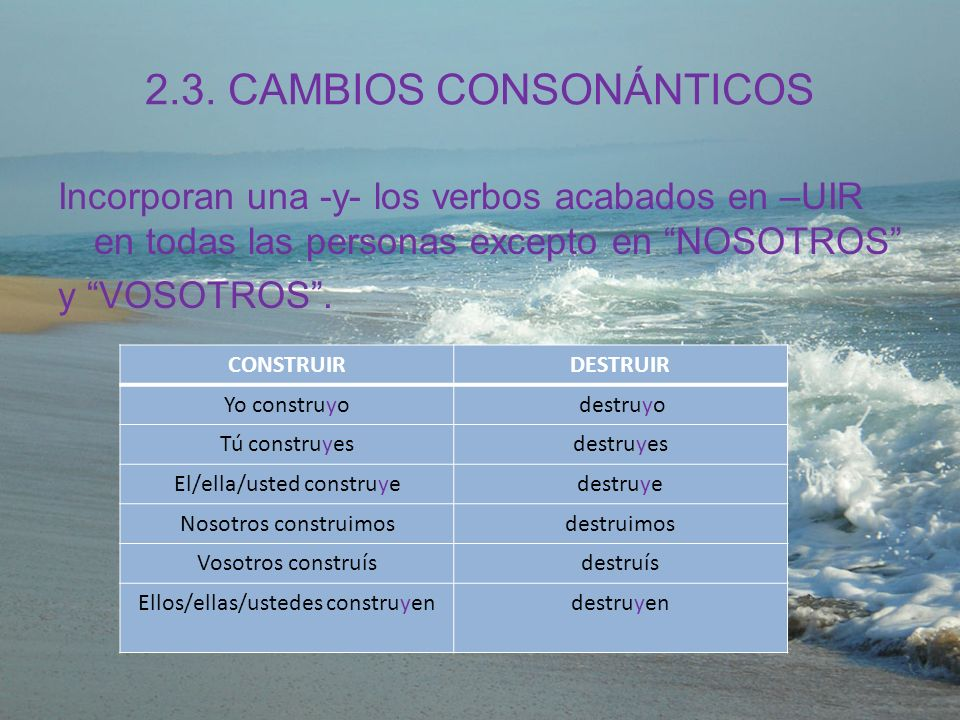 2.3. CAMBIOS CONSONÁNTICOS