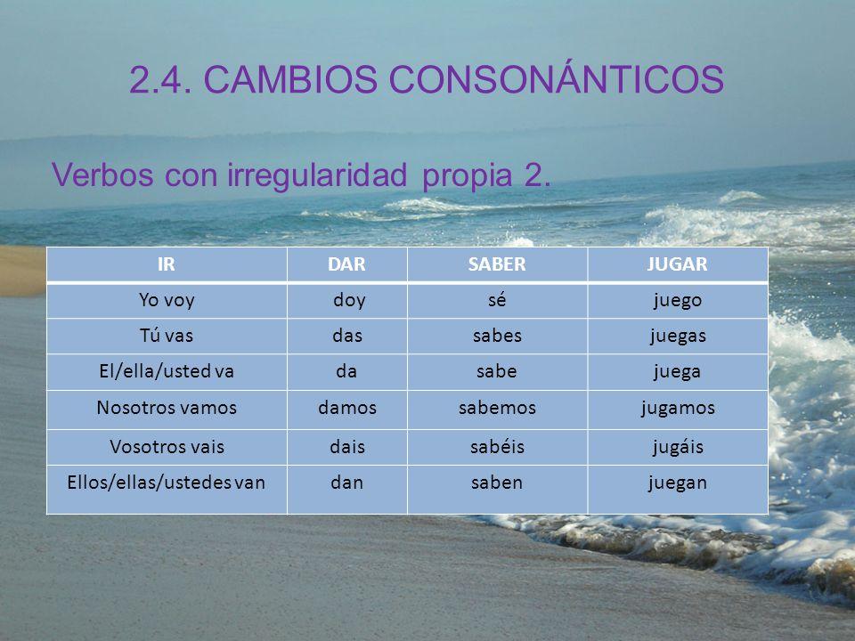 2.4. CAMBIOS CONSONÁNTICOS