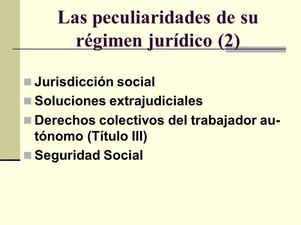Las peculiaridades de su régimen jurídico (2)