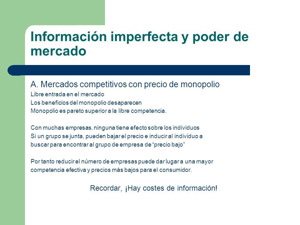 Información imperfecta y poder de mercado